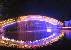 RGB Lights Digital Waterfall Perdă grafică cu apă