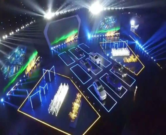 Large outdoor stage LED lighting show and stainless steel water pool dancing fountain show for SANYA AUDINTAIN