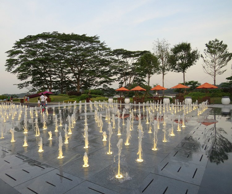 R & F Malaysia Musical Dancing Dry/Floor/Interactive Water Fountain