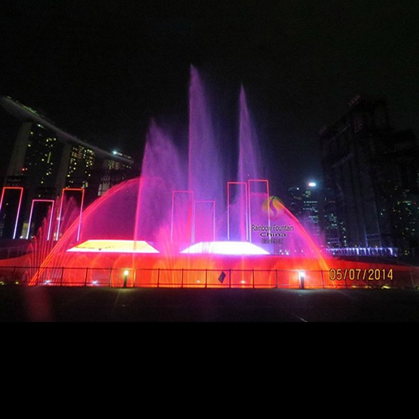 Singapore National Day Ceremony Stage Digital Swing Floating Water Fountain with Colorful LED Lights