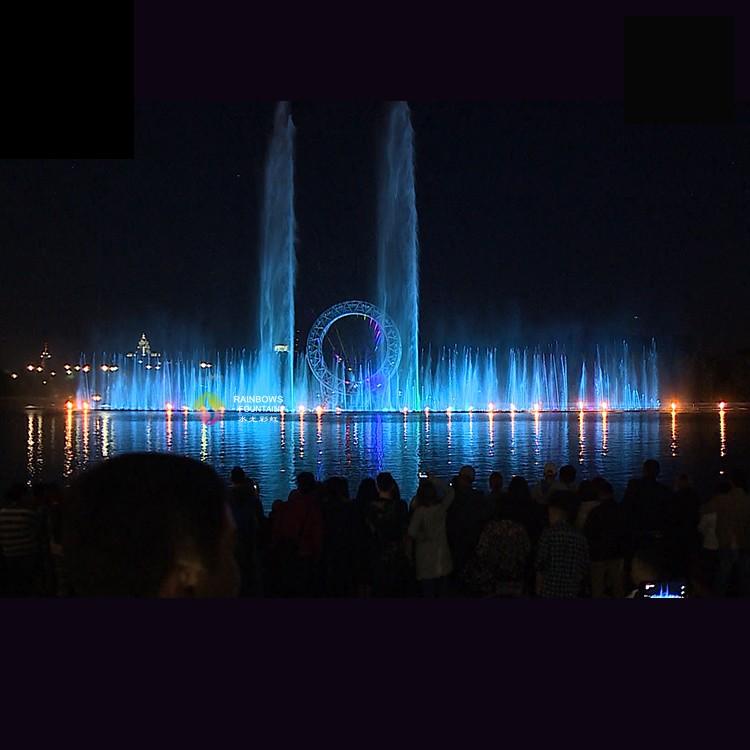 Kazachstan Big O Show Muzyka Taniec Fontanna z kolorowymi światłami LED i laserową projekcją hologramu 3D