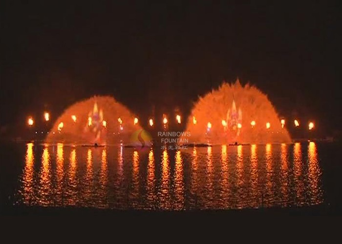 Water And Fire Fountain Outdoor