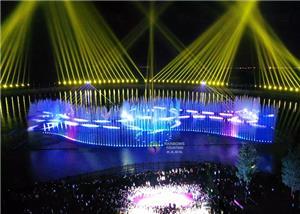 Zewnętrzny programowalny muzyczny pokaz laserowego oświetlenia dla parku
