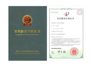 Certyfikat Patentowy Fontanny Wodnej Pionowej