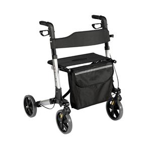 Four Wheel Walker Rollator With Shopping Bag
