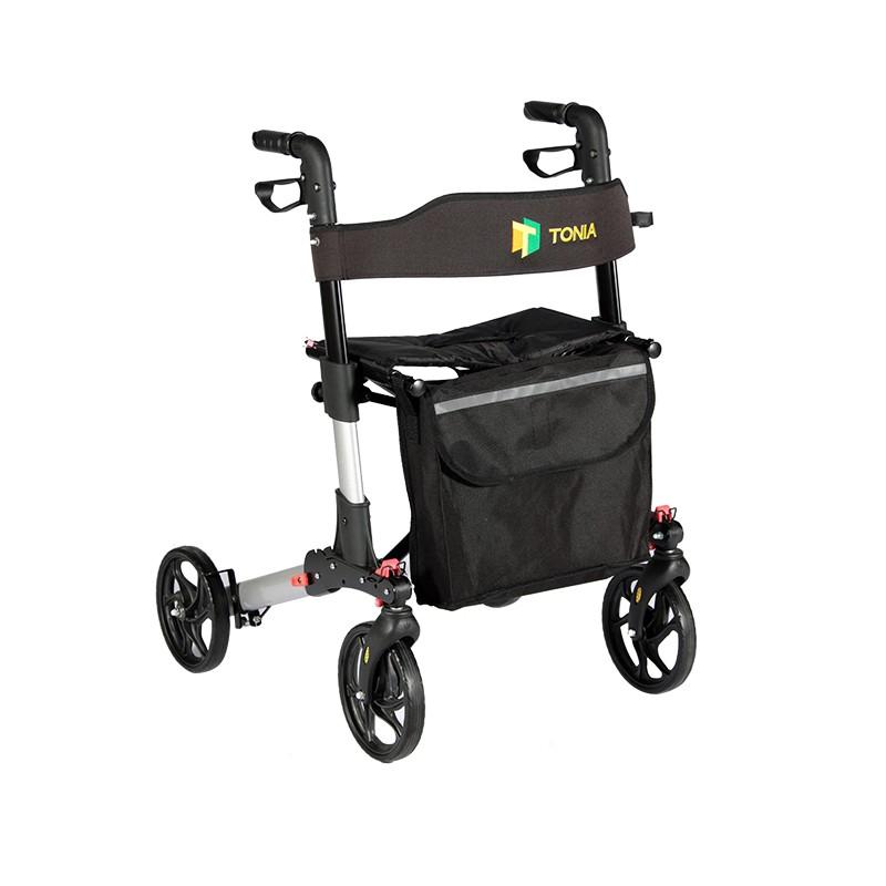 Aluminum Rollator Shopping Cart with 4 Wheels