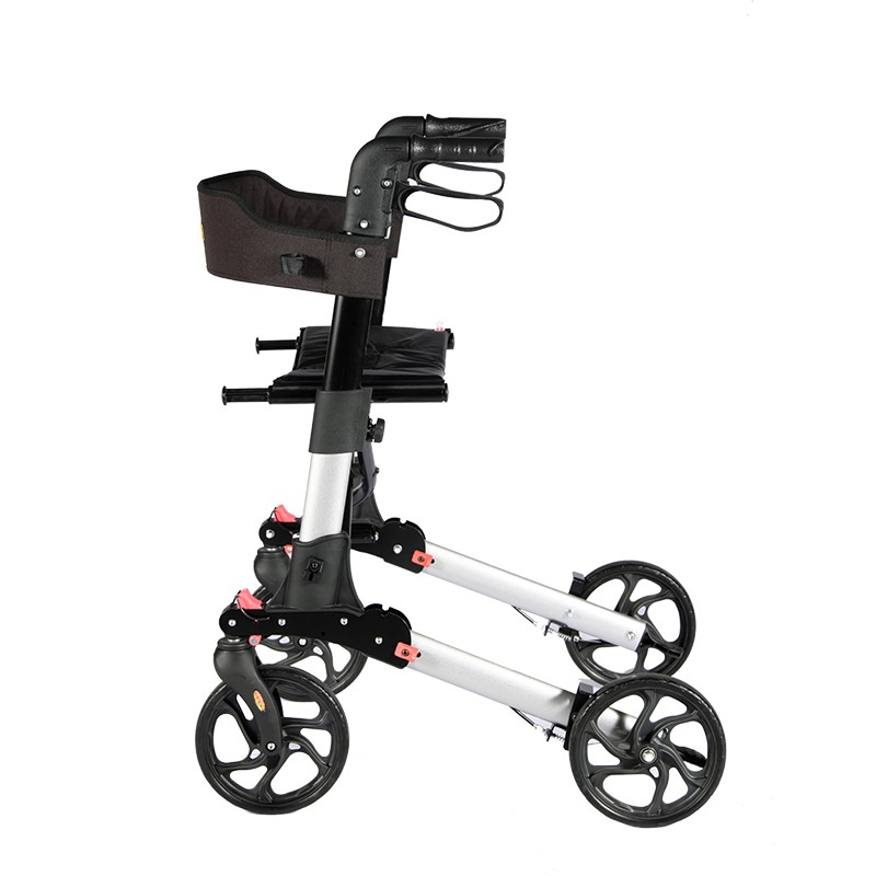 Aluminum Rollator Shopping Cart with 4 Wheels Manufacturers, Aluminum Rollator Shopping Cart with 4 Wheels Factory, Supply Aluminum Rollator Shopping Cart with 4 Wheels