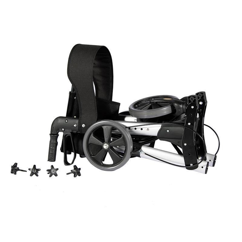 8 inch wheel folding walker