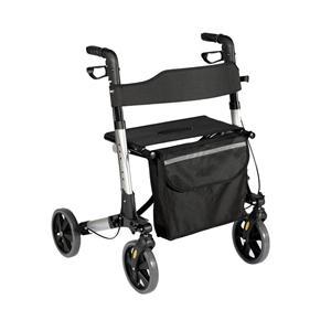Rotatable 8 Inch Wheel Folding Walker