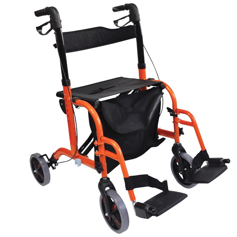 Foldable Footrest Rollator Walker