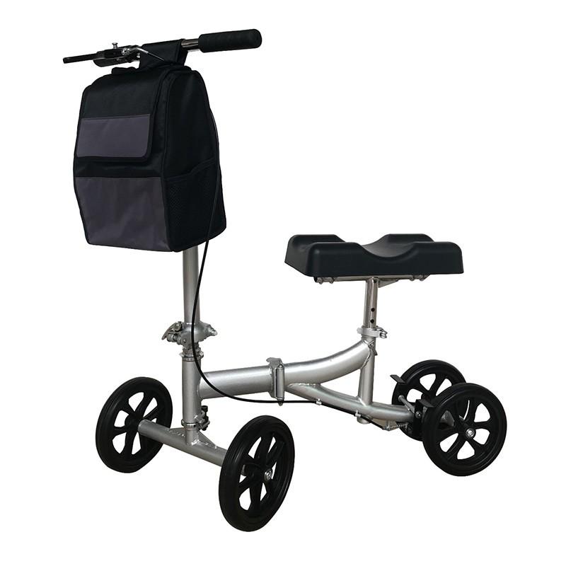 4 Rad Stahl faltbarer Knie Walker für Erwachsene