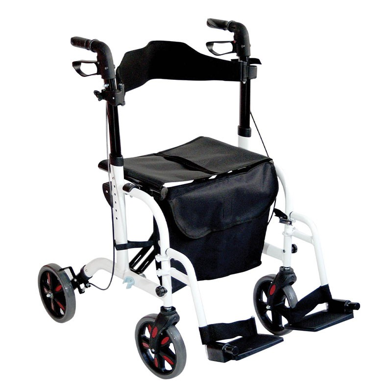 Two In One Function Aluminum Rollator