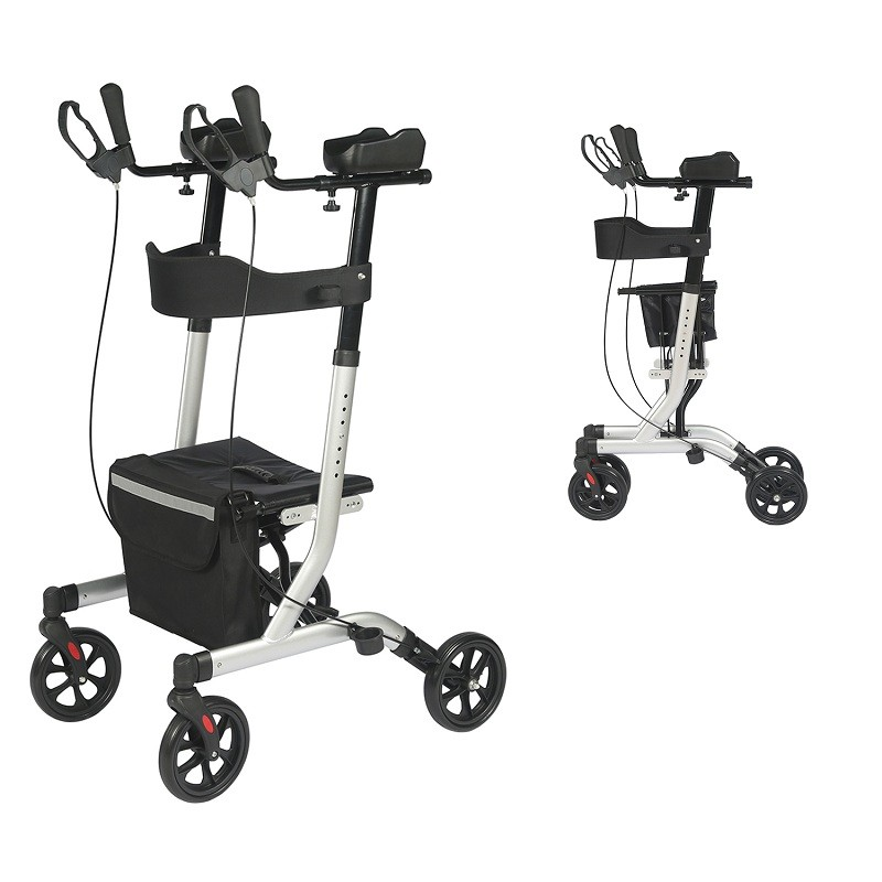 Upright Rollator Walker- Stand up Rollator Walker with Forearm Support for Elderly