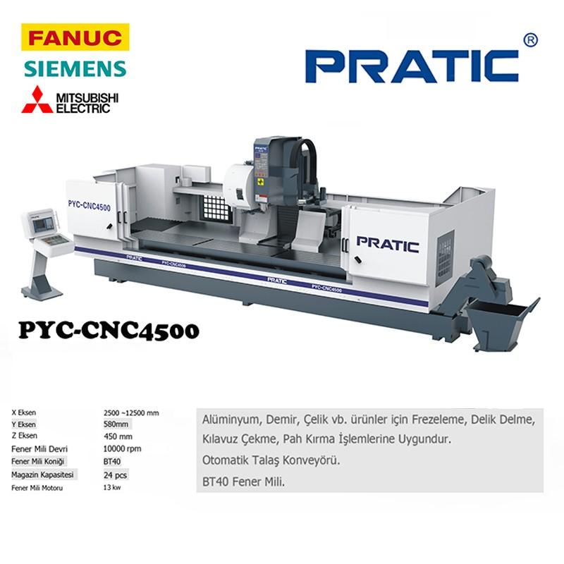 PYC-Düz parça üretimi için 3 eksenli CNC işleme merkezi