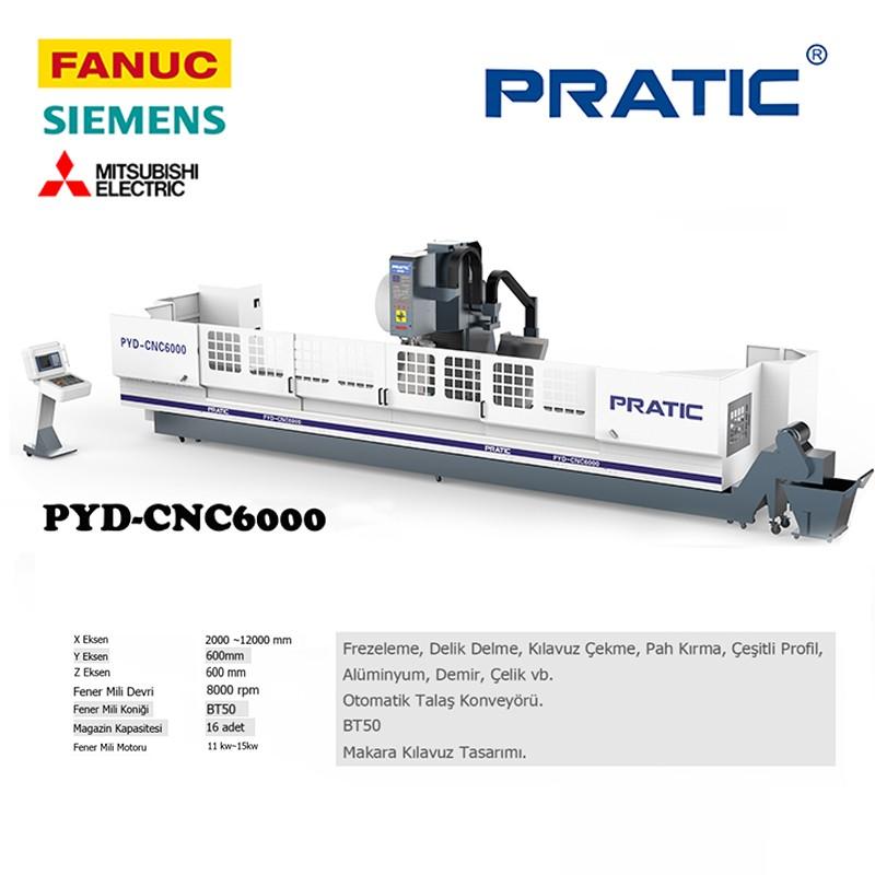 PYD-Demiryolu sektörü Parçaları CNC İşleme Merkezi / BT50