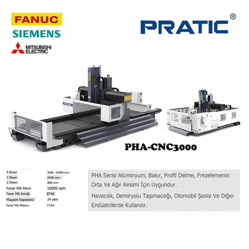 PHA-Havacılık sanayi parçaları imalat için Köprü tip CNC takım tezgahı