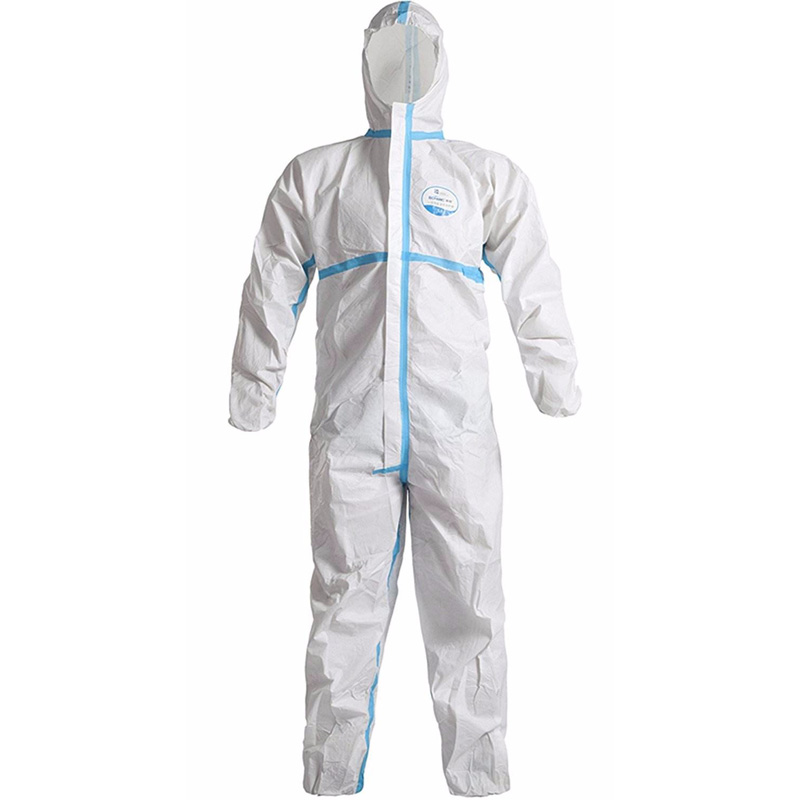 Disposable coveralls with tape