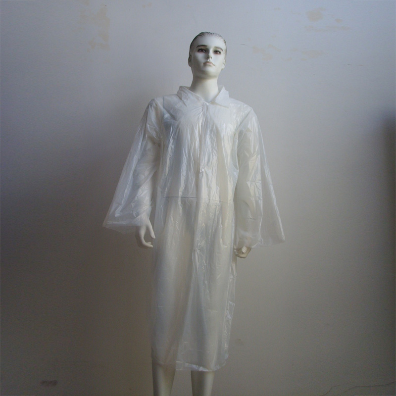 Disposable PE visit coat