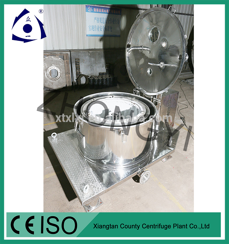 Flat Vertical Bag lifting Top Discharge Filter Centrifuge