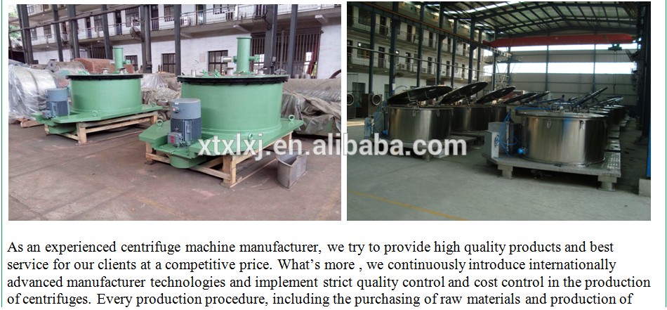 Pharmaceutical Top Discharge Manual Centrifuge
