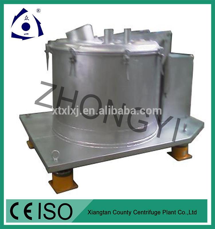 Vertikal centrifug med kontinuerligt flöde för socker Separation