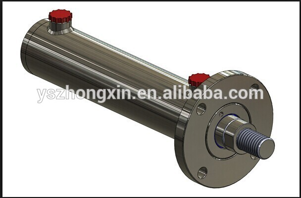 Double Acting Piston Rod Hydraulic Cylinder with Flange