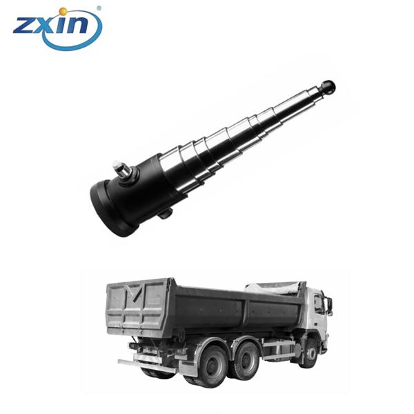Hydraulic Ram 5 Stage 10 Ton 2150mm Stroke Base Mount