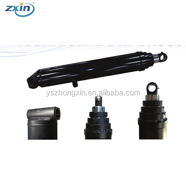 3 Stage Parker Dump Truck Single Acting Telescopic Hydraulic Cylinder