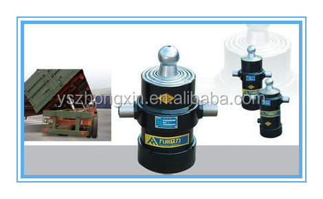 Hydraulic Telescopic Cylinder for dump Truck with ball-trunnion mounted type
