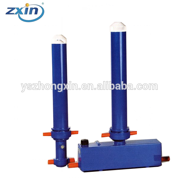 6 Stages Hydraulic Cylinders Edbro Type Telescopic Cylinders For Drop Deck Trailers