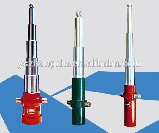 bore 4 inch rod 2inch stroke 40inch double acting small portable hydraulic cylinders for tow tractor trailer manufacturer
