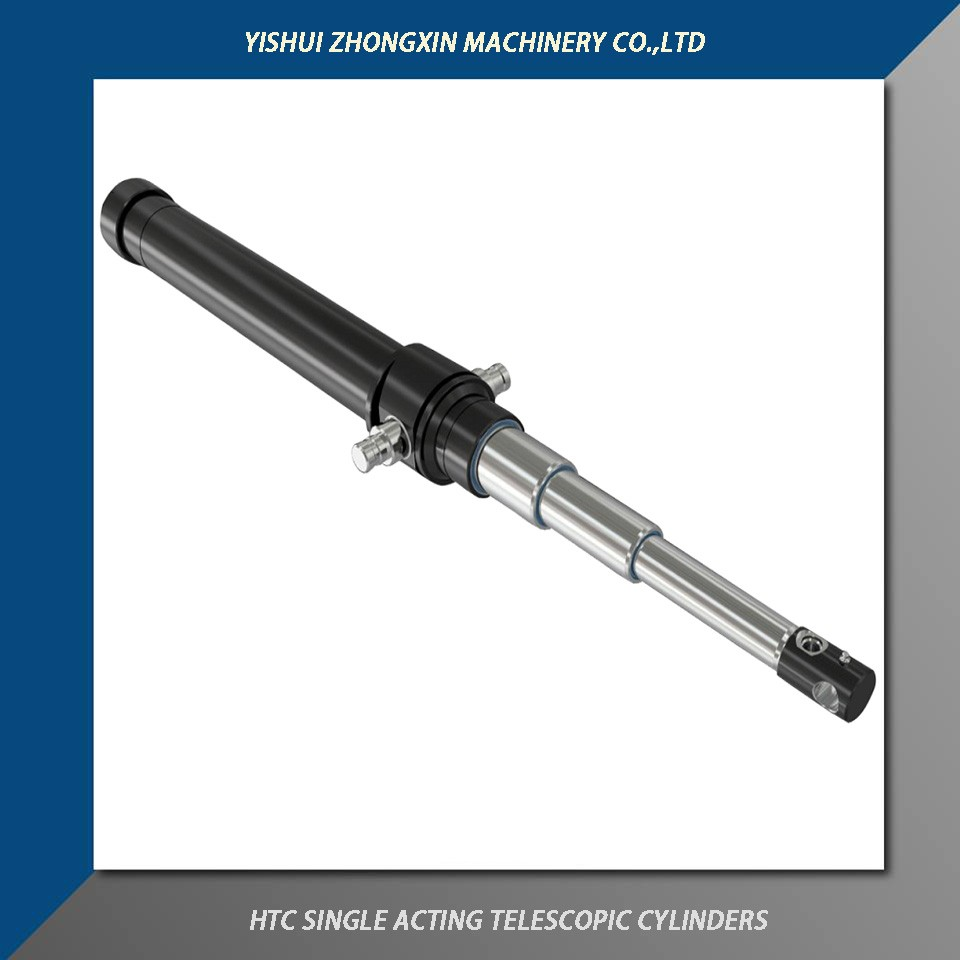 Zhognxin Hydraulic manufactures telescopic hydraulic cylinders of various stroke lengths and capacity.