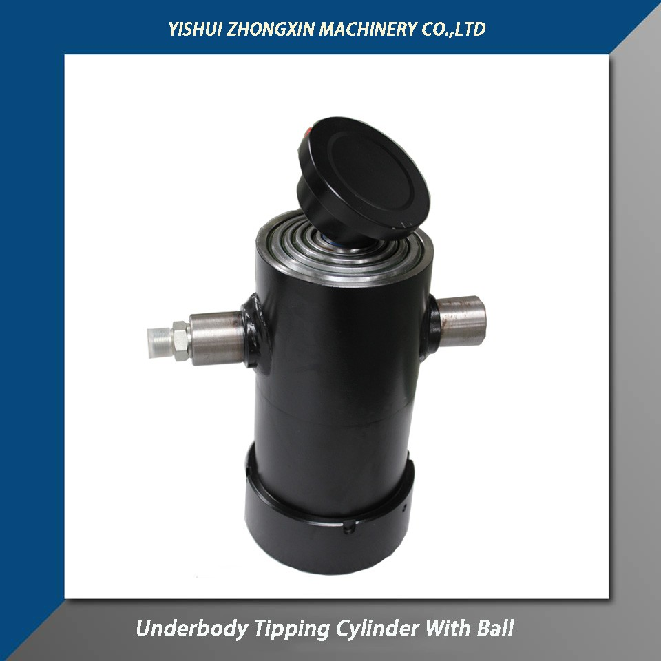 Zhongxin Hydraulic designs and manufactures hydraulic underbody tipping cylinders from 1 stage up to 9 stages for dump trailers and for all other types of tipping applications.