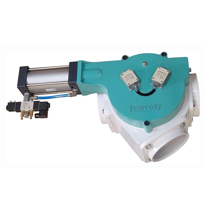 Vacuum Powder Pellet Handling Plug Diverting Valve