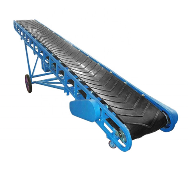 Bulk Material Inclined Modular Angled Belt Conveyor