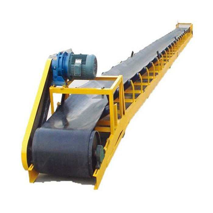 Flour Feed Bagged Material Horizontal Belt Conveyor