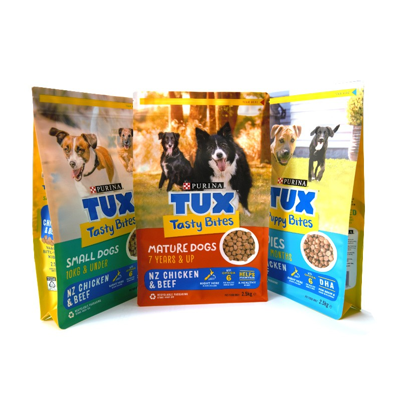 Recyclable Plastic Dog Food Packaging Pouches