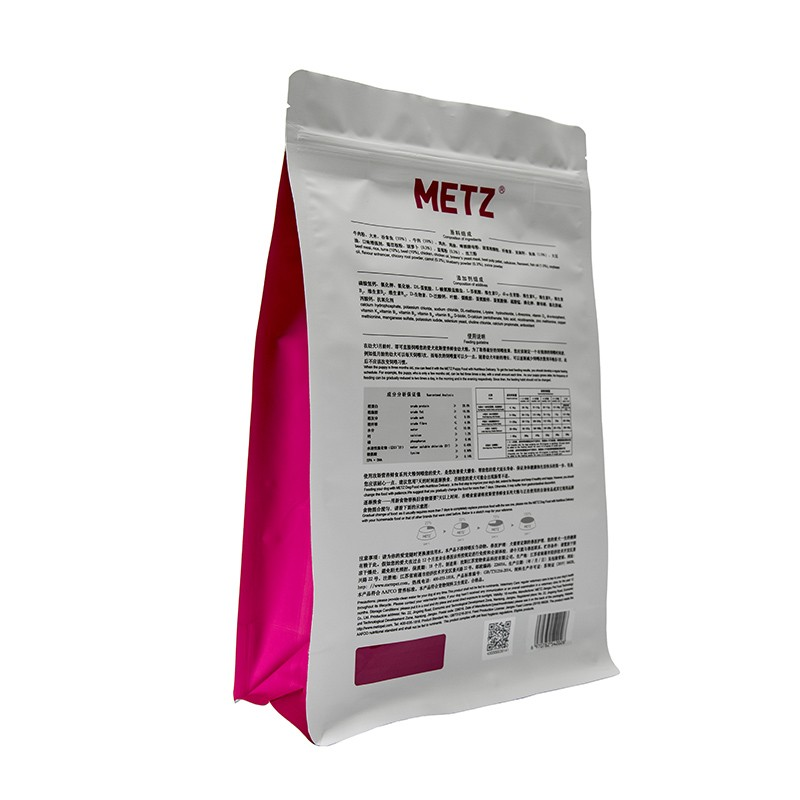 Flat Bottom Pouches Bags For Pet Food Manufacturers, Flat Bottom Pouches Bags For Pet Food Factory, Supply Flat Bottom Pouches Bags For Pet Food
