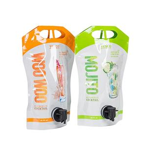 Stand Up Pouch With Valve Packaging For Liquor