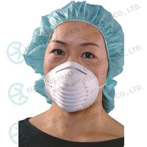 인증된 일회용 N95 방진 마스크 / FFP 2 호흡기