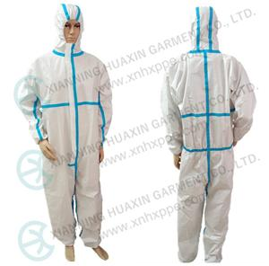 EN14126 TYPE4B/5B/6B taped seam protective coverall