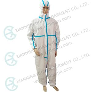 EN14126 TYPE4B TYPE5B TYPE6B taped seam protective coverall