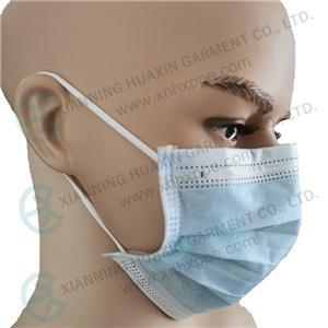 귀 고리가 있는 일회용 부직포 안면 마스크 3ply