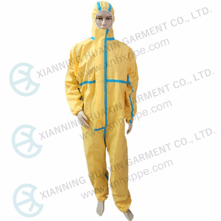 coverall tested by SULFURIC ACID 96%
