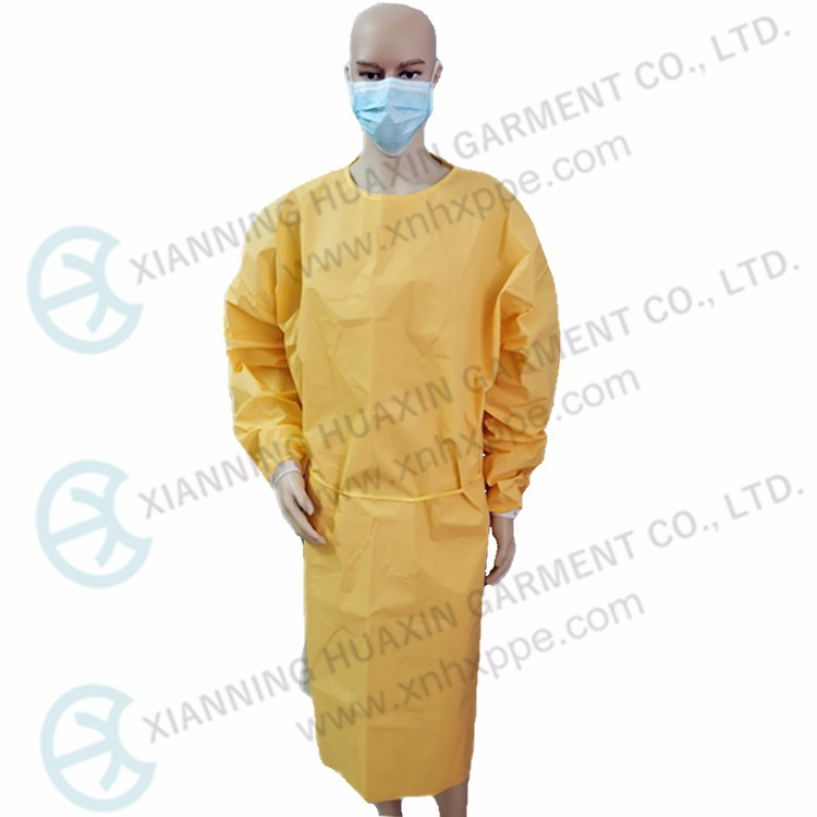 CE certificated EN14126 chemical resistant yellow gown Type3B Factory