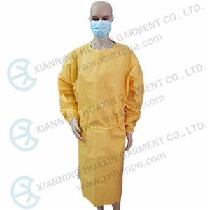CE certificated EN14126 chemical resistant yellow gown Type3B