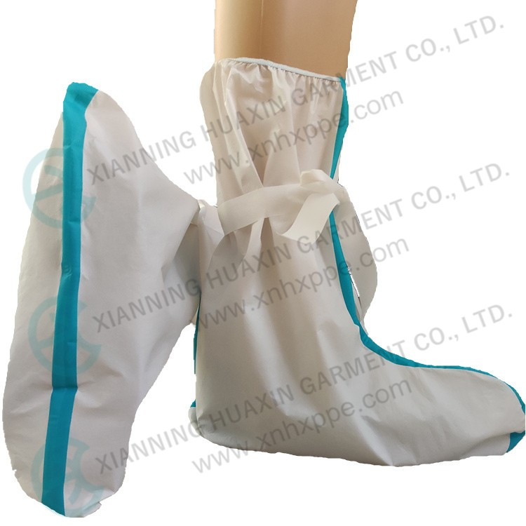 EU certificated TYPE4/6 taped seam microporous boot covers Factory
