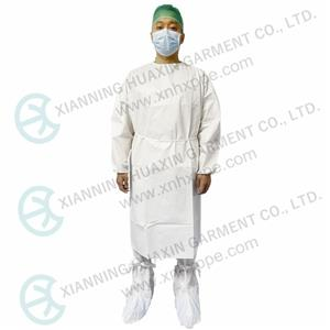 SF microporous non medical isolation gown EN14126 type6B