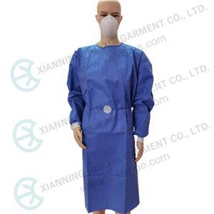Polsini filettati per camice chirurgico SMS EN13795-1 blu