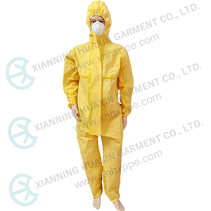TYPE3B EN14126 double zipper cover chemical resistant coverall